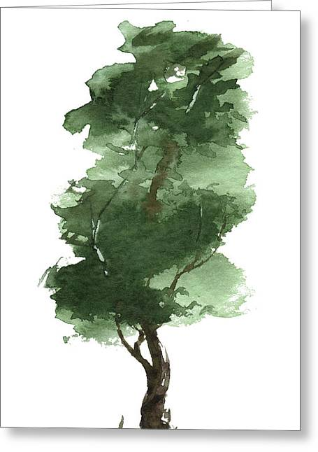 Sean Seal Greeting Cards - Little Zen Tree 161 Greeting Card by Sean Seal