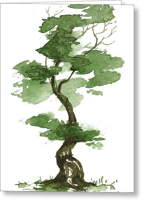 Little Zen Tree 208 Greeting Card