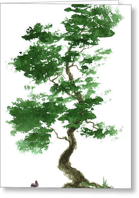 Zen Greeting Cards - Little Zen Tree 365 Greeting Card by Sean Seal
