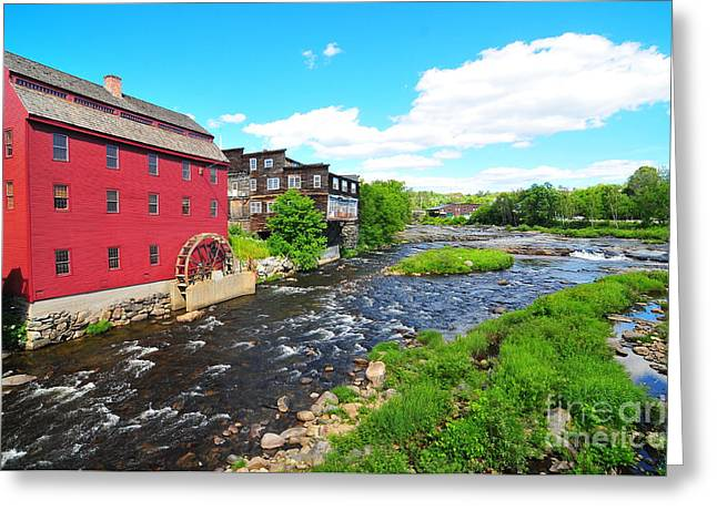 Catherine Wheel Greeting Cards - Littleton Grist Mill Greeting Card by Catherine Reusch  Daley