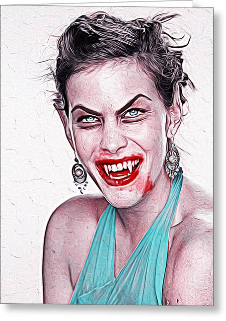Liv Tyler Greeting Card