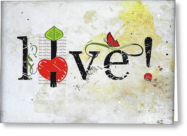 Live And Love Greeting Card