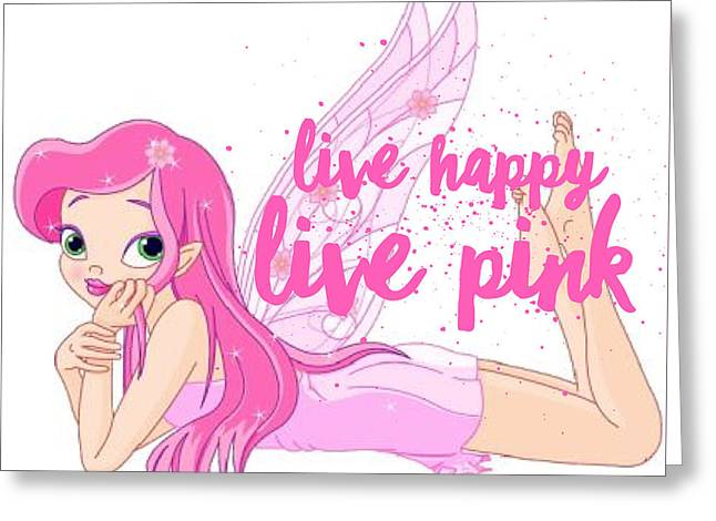 Live Happy Test Greeting Card