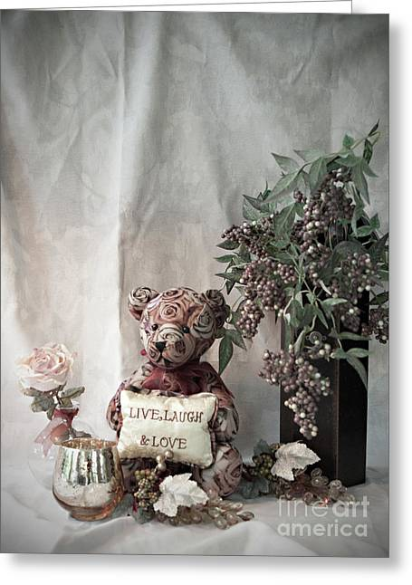 Live, Laugh, Love Bear No. 2 Greeting Card by Sherry Hallemeier