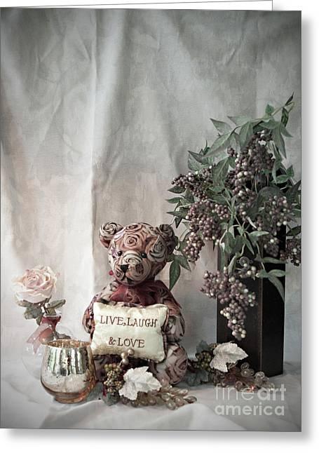 Live, Laugh, Love Bear No. 2 Greeting Card