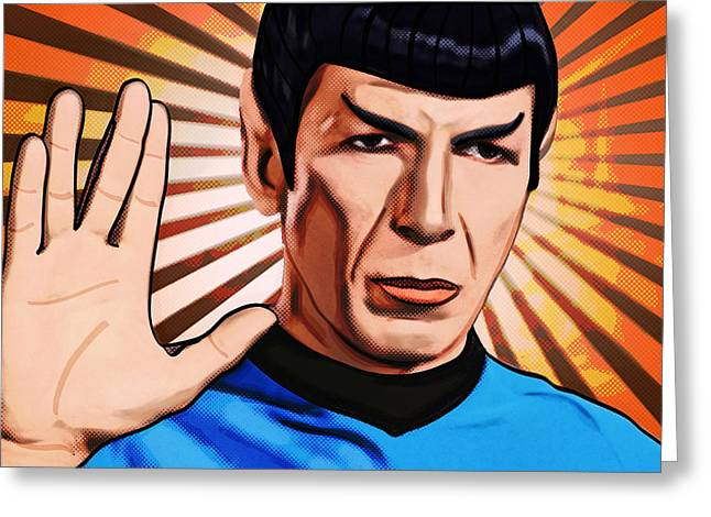 Live Long Mr Spock Greeting Card by Tobias Woelki
