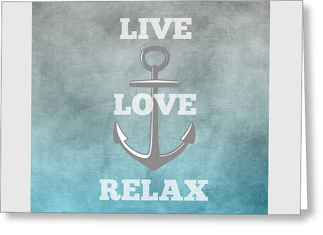 Live Love Anchor Greeting Card