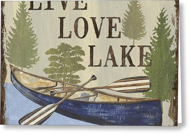 Live, Love Lake Greeting Card by Debbie DeWitt