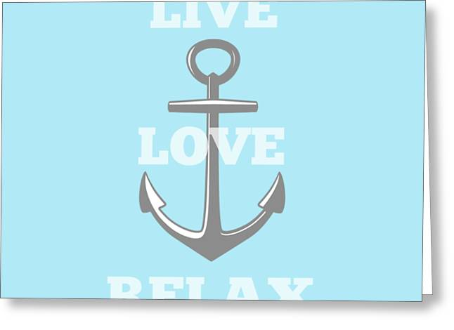 Live Love Relax - Customizable Color Greeting Card
