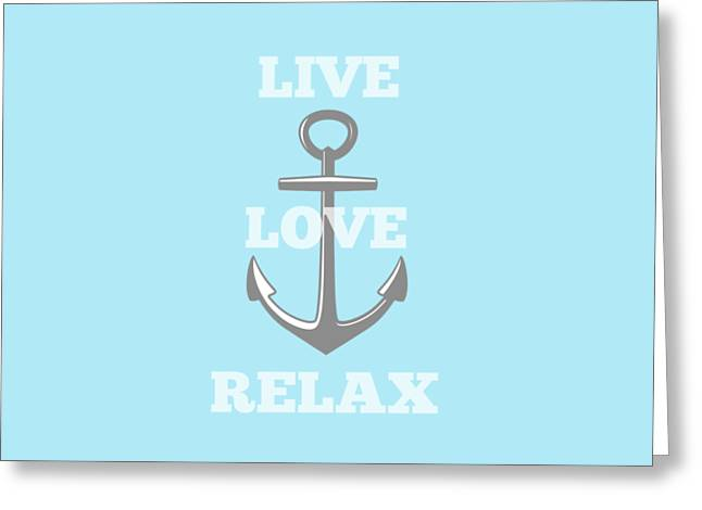Live Love Relax - Customizable Color Greeting Card by Inspired Arts