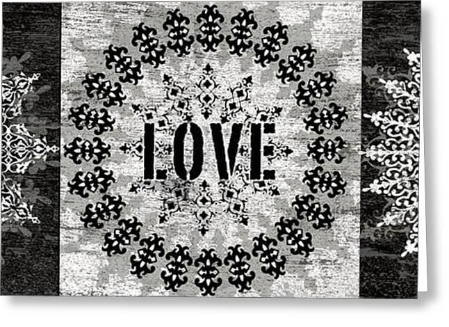 Live Love Rock Greeting Card by Marilu Windvand