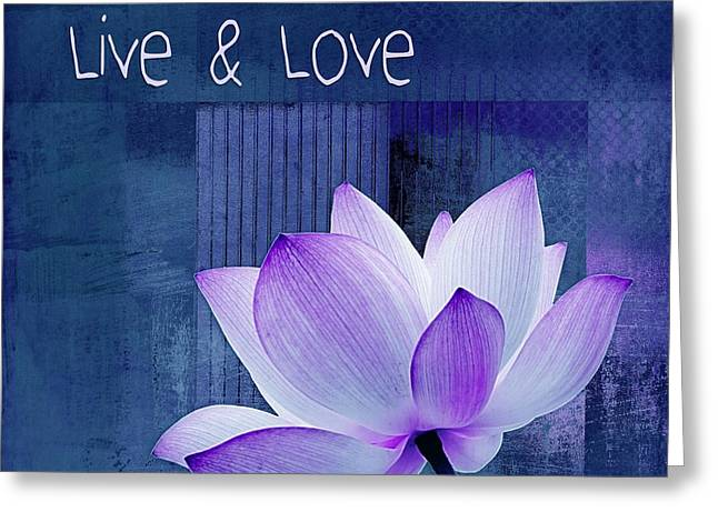 Live N Love - 123 Greeting Card by Variance Collections