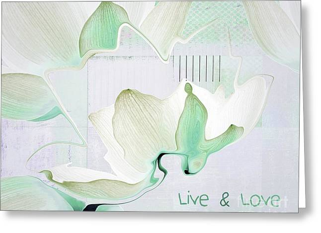 Live N Love - Absf42 Greeting Card by Variance Collections