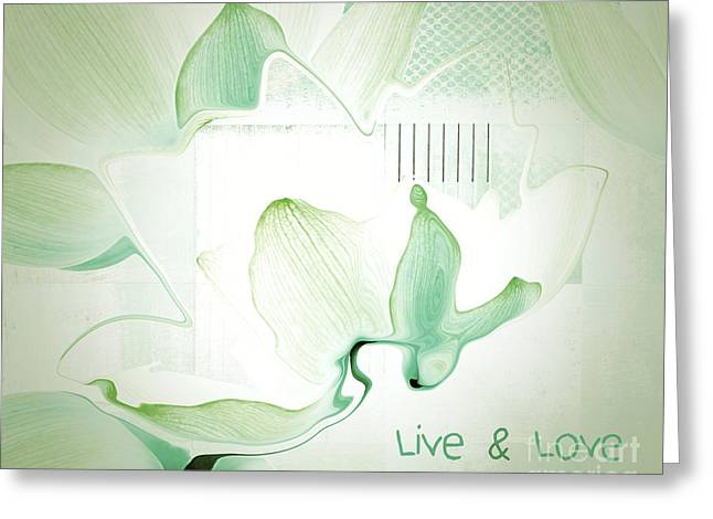 Live N Love - Absf12 Greeting Card by Variance Collections