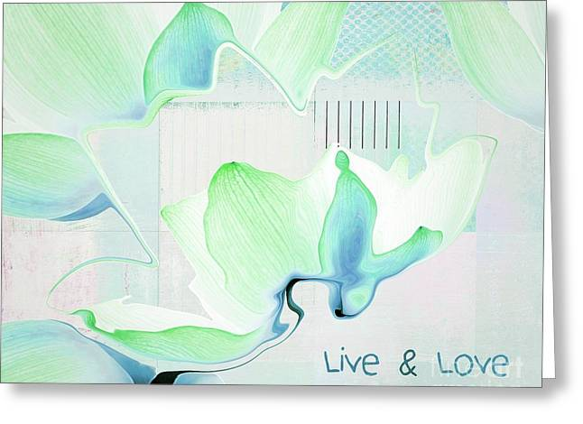 Greeting Card featuring the photograph Live N Love - Absf15 by Variance Collections