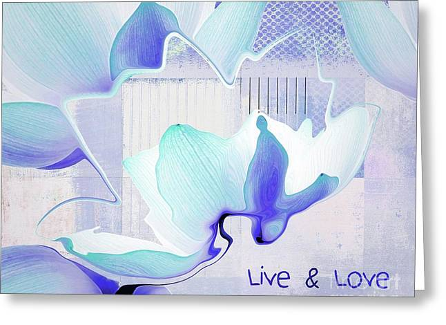 Greeting Card featuring the photograph Live N Love - Absf43 by Variance Collections