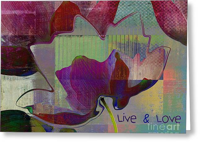 Live N Love - Absfl28b Greeting Card by Variance Collections