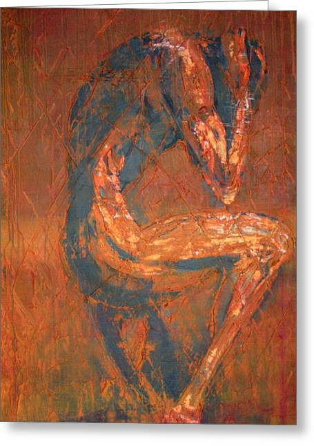 Greeting Card featuring the painting Live Rust by Jarko Aka Lui Grande