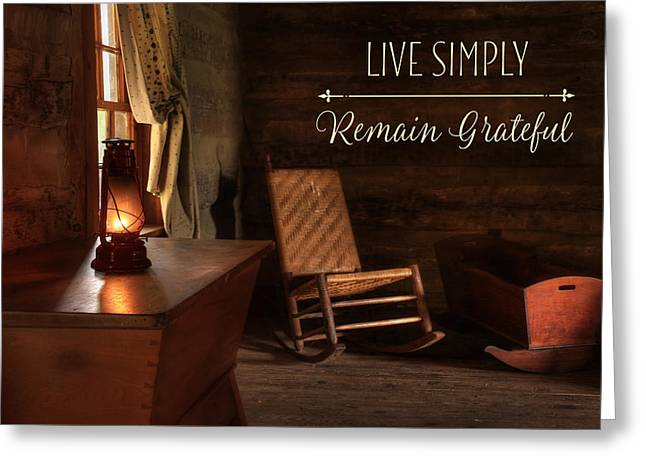 Live Simply Greeting Card by Lori Deiter