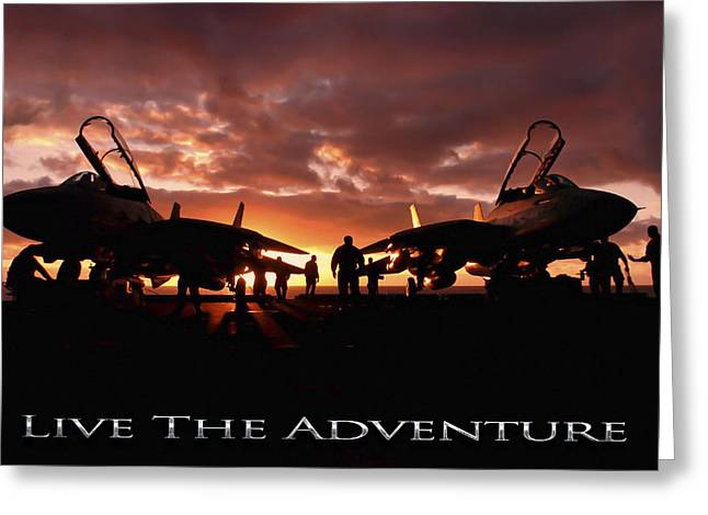 Live The Adventure Greeting Card