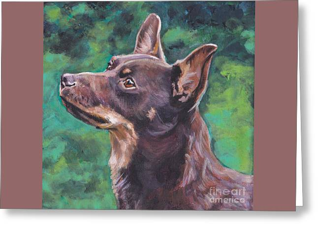 Liver Lancashire Heeler Greeting Card by Lee Ann Shepard