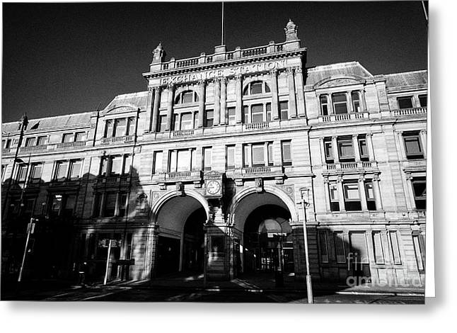 Liverpool Exchange Station Former Railway Station Now Offices In The Commercial District Uk Greeting Card by Joe Fox