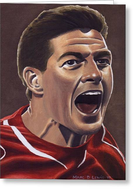 Liverpool Fc - Steven Gerrard Greeting Card