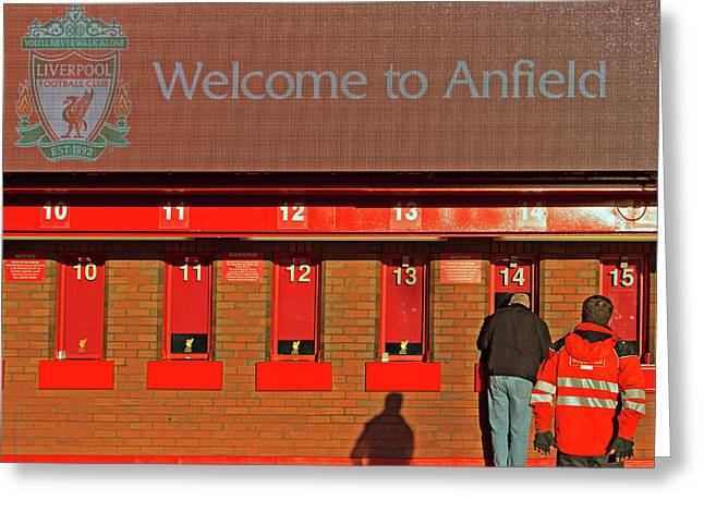 Liverpool Football Club Ticket Office Greeting Card