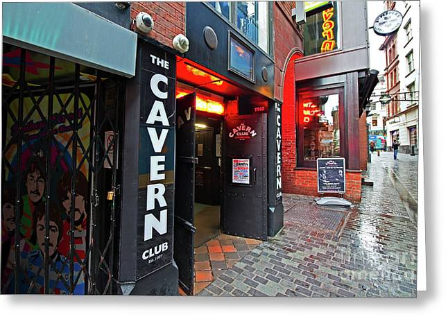 Liverpool Uk, 19th January 2017. The World Famous Cavern Club In Mathew Street Liverpool. Greeting Card