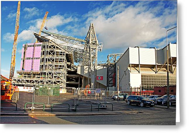Liverpool Uk January 8th 2016. Construction Of A New Stand, Part Greeting Card