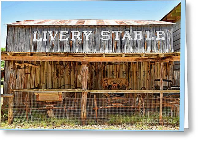 Livery Stable Greeting Card by Ray Shrewsberry