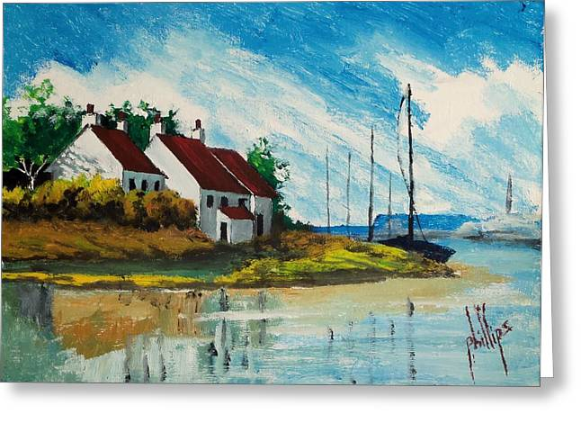 Living At The Mouth Of The White Oak River Greeting Card by Jim Phillips