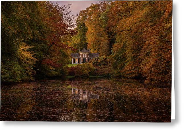 Living Between Autumn Colors Greeting Card