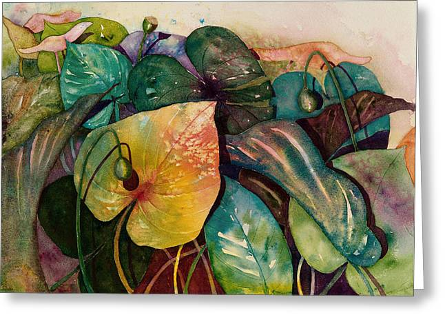 Philodendron Greeting Cards - Living Color Greeting Card by Renee Chastant