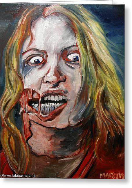 Living Dead Girl By Fabrice Martin Greeting Card by Fabrice MARTIN