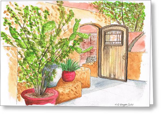 Living Desert Botanical Garden - California Greeting Card by Carlos G Groppa