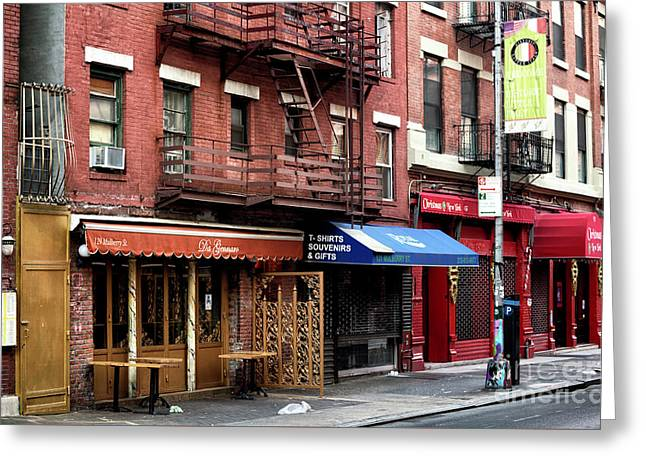 Greeting Card featuring the photograph Living In Little Italy by John Rizzuto
