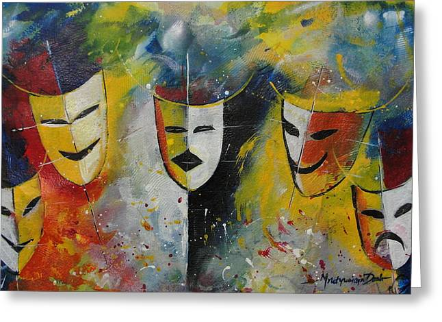 Living Masks Greeting Card