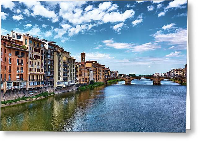 Living Next To The Arno River Greeting Card