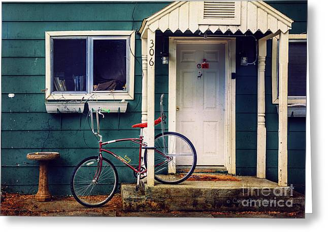Livingston Bicycle Greeting Card by Craig J Satterlee