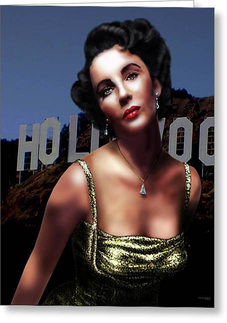 Liz Taylor Greeting Card by Virginia Palomeque