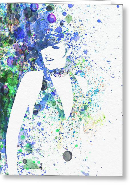 Leading Lady Greeting Cards - Liza Minnelli Cabaret Greeting Card by Naxart Studio
