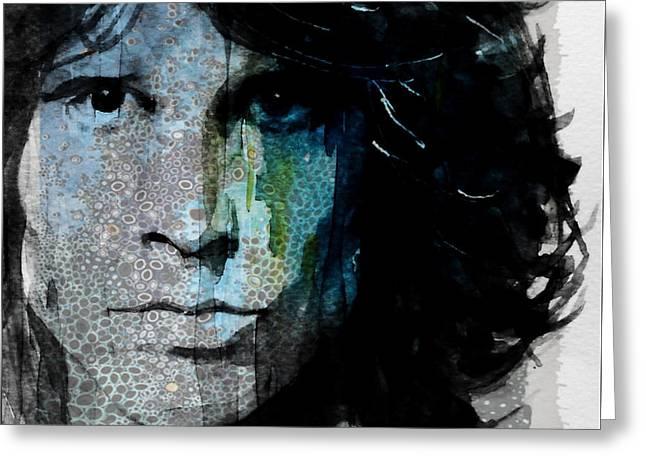 Lizard King  Jim Morrison  Greeting Card by Paul Lovering