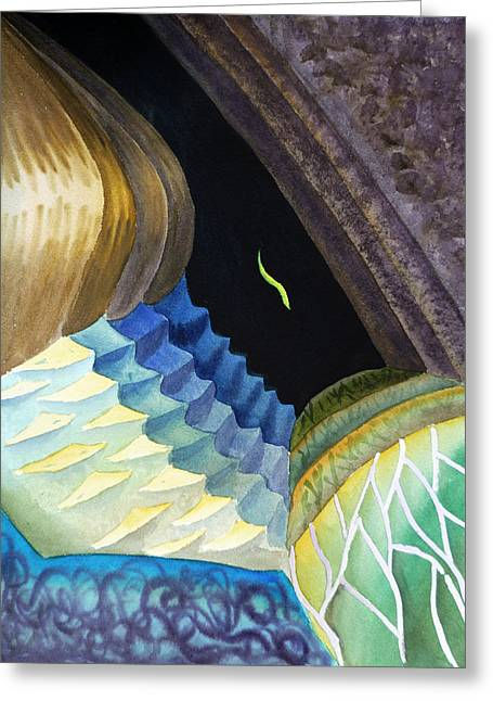 Lizard Skin Abstract II Greeting Card by Irina Sztukowski