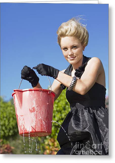 Lizas Leaking Bucket Greeting Card by Jorgo Photography - Wall Art Gallery