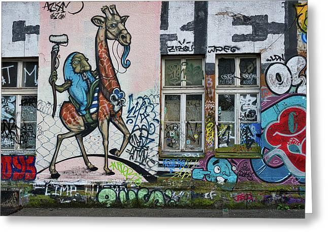 Greeting Card featuring the photograph Ljubljana Graffiti - Slovenia by Stuart Litoff
