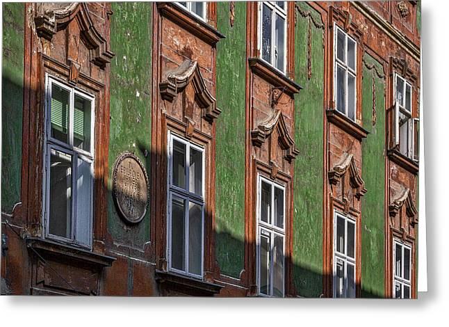 Greeting Card featuring the photograph Ljubljana Windows #2 - Slovenia by Stuart Litoff