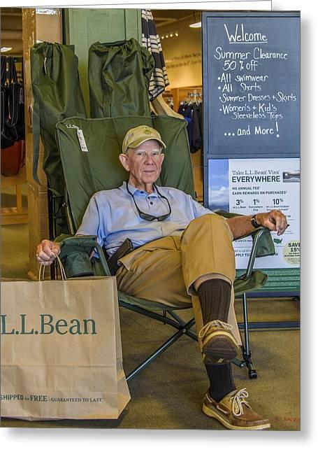 Ll Bean Greeting Card by Howard Hackney