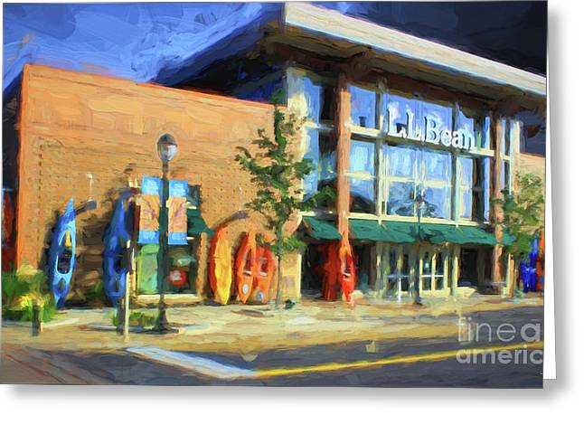 Ll Bean Store At The Promenade In Pa Greeting Card by Heinz G Mielke