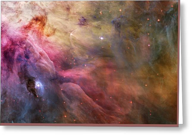 Ll Ori And The Orion Nebula Greeting Card